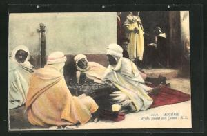 AK Algerien, Araber spielen Dame