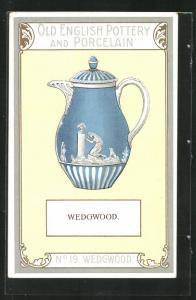 AK Wedgwood, No. 19, Old English Pottery an Porcelain, Teekanne
