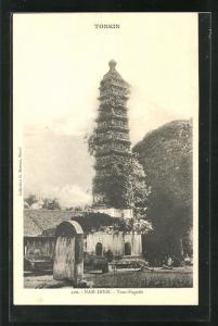 AK Nam-Dinh, Tour-Pagode, Turmbau