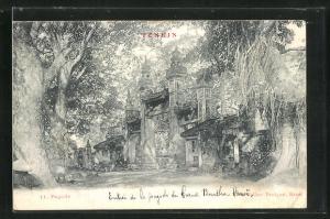 AK Hanoi, Pagode, Entree de la pagode du Grand Boudha