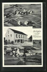 AK Oberdietfurt a. d. Rott, Gemischtwaren A. Leitl, Fliegeraufnahme
