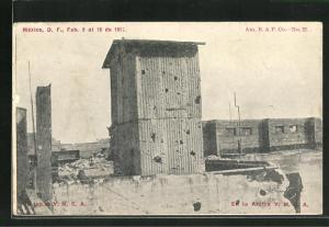 AK Mexikanische Revolution 1913, On top of Y.M.C.A.