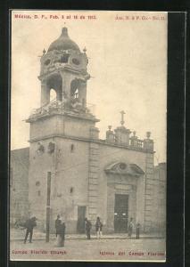 AK México, Campo Florida Church, Mexikanische Revolition 1913
