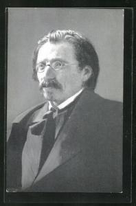 AK Portrait des jiddischsprachigen Schriftsteller Scholem Alejchem