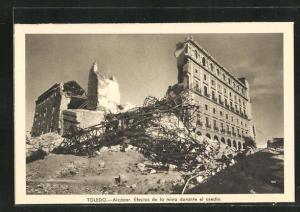 AK Toledo, Spanischer Bürgerkrieg, El Alcázar, Efectos de la mina durante el asedio