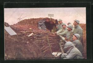 AK Verdun, Firing Grenades on German trenches, Artilleriesoldaten in Uniformen