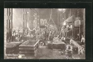AK Vickers-Maxim Works, Barrow-In-Furness, Steel Foundry