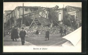 AK Palmi, Rovine di Palmi, Zerstörungen nach Erdbeben