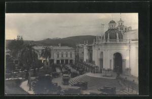 AK Quito, Strassenpartie im Zentrum