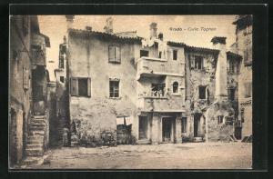 AK Grado, Calle Tognon, Alte Häuser