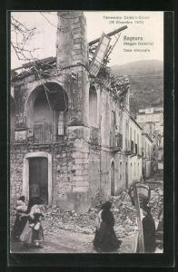 AK Bagnara, Terremoto Calabro-Siculo 1908, Case diroccate