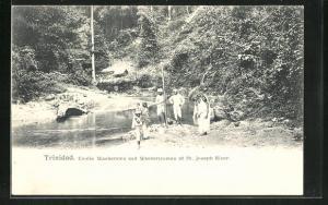 AK Trinidad, Coolie Washermen and Washerwomen at St. Joseph River