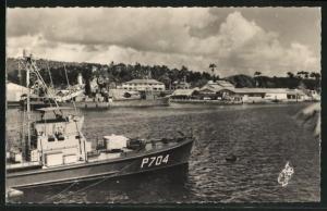 AK Martinique, Fort de France, Les Quais de la Compagnie Generale Transatlantique