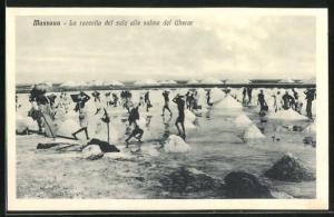 AK Massaua, La raccolta del sale alle saline del Gherar