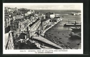 AK Valletta, General View and Entrance to Grand Harbour