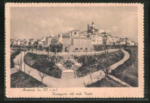 AK Macerata, Passeggiata del viale Trieste, Panorama