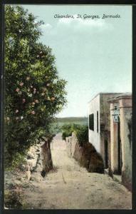AK St. Georges, Oleanders, Motiv aus dem Ort