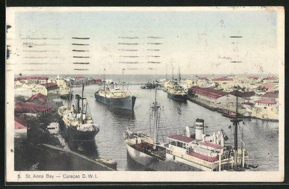 AK Curacao / D. W. I., St. Anna Bay 0