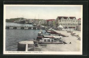 AK Curacao / D. W. I., Governments place and Handelskade