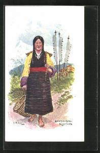 AK Darjeeling, Bhutia Girl, Einheimische in Tracht