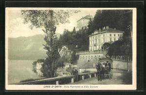 AK Orta San Giulio, Villa Formenti e Villa Curioni