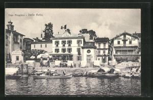 AK Isola Bella / Lago Maggiore, Hotel-Restaurant du Dauphin und Ristorante del Vapore
