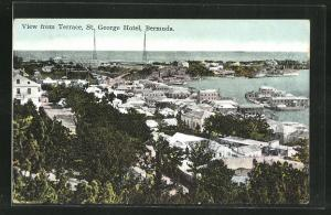 AK Bermuda, St. George Hotel, View from Terrace