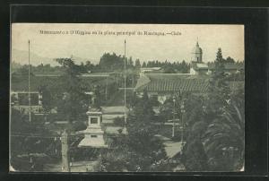 AK Rancagua, Monumento a O`Higgins en la Plaza Principal