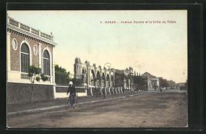 AK Dakar, Avenue Roume et la Grille du Palais