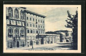 AK Bagni di Montecatini, Banca Popolare an der Piazza Umberto I.