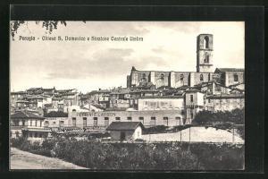 AK Perugia, Chiesa S. Domenico e Stazione Centrale Umbra