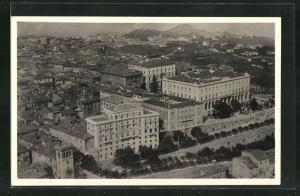 AK Perugia, Fliegeraufnahme, Brufani & Palace Hotel, Pension Bellavista