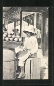AK Bermuda, Paw Paw Seller, junger Obsthändler