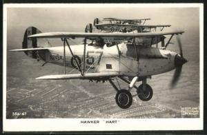AK Staffel von Flugzeugen des Typs Hawker Hart