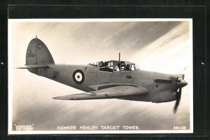 AK Kampfflugzeug vom Typ Hawker Henley Target Tower