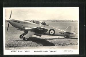 AK Kampfflugzeug der Royal Air Force vom Typ Boulton Paul Defiant