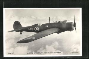 AK Langstreckenbomber der Royal Air Force vom Typ Vickers Wellesley
