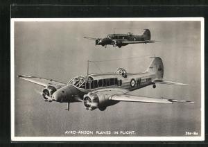 AK Kampfflugzeug der Royal Air Force vom Typ Avro-Anson