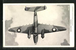 AK Flugzeug Lockheed Hudson, Bomber mit Heckgeschütz