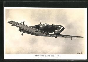 AK Flugzeug Messerschmitt Me 109, Jagdflugzeug der Luftwaffe
