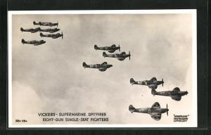 AK Vickers, Supermarine Spitfires, Eight-Gun Single-Seat Fighters