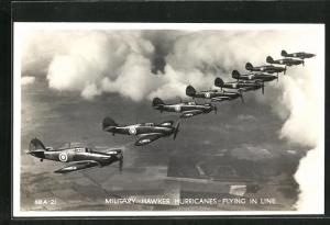 AK Military Hawker Hurricanes, Flying in Line