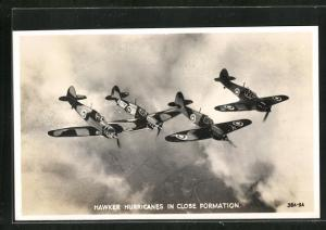 AK Hawker Hurricanes in close formation