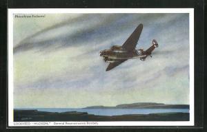 AK Lockheed Hudson, General Reconnaissance Bomber, Kampfflugzeug in der Luft