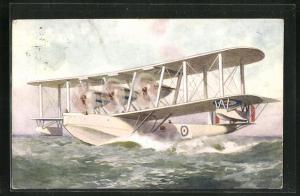 AK Wasserflugzeug auf dem Wasser