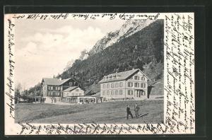AK Vaduz, Ansicht vom Hotel Kurhaus Gaflei