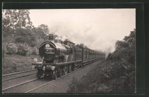 Fotografie Eisenbahn Grossbritannien, Dampflok Nr. 516, Personenzug mit Tender-Lokomotive