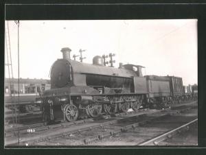 Fotografie Eisenbahn Grossbritannien, Dampflok, Güterzug mit Tender-Lokomotive