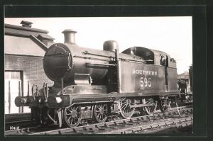 Fotografie Eisenbahn Grossbritannien, Southern Railways, Dampflok Nr. 595 in London New Cross