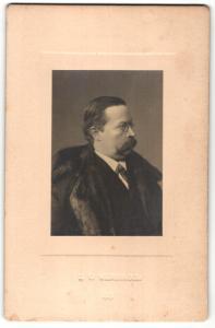 Fotografie Portrait Ernst von Wildenbruch, Schriftsteller und Diplomat